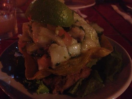 Mona's Tex-Mex Restaurant:                   amazing red snapper ceviche