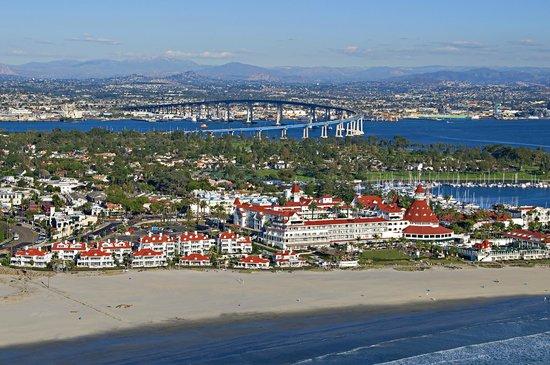 Hotel del Coronado: Aerial View of Coronado Island
