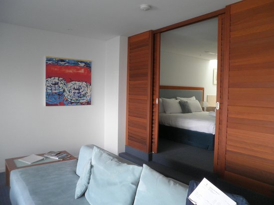 Seashells Mandurah : Seashells - Lounge Area & Upstairs to the Bedroom