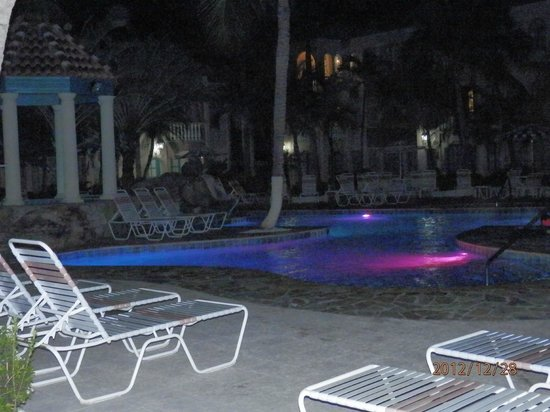 Caribbean Palm Village Resort: Mesmerizing Evening Pool Lights Change Colors