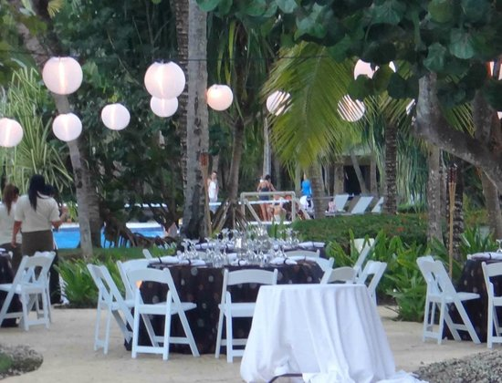 The Reserve at Paradisus Punta Cana:                                                       Chill Out Chic Poolside Reception Dinner
