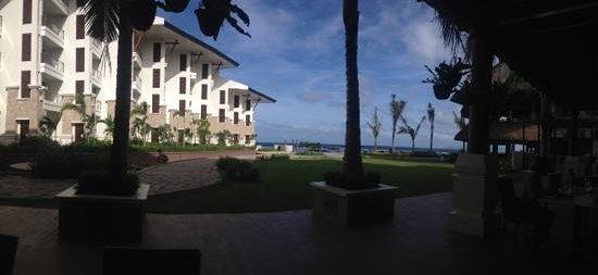The Bellevue Resort Bohol: view from Lamian's veranda