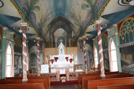 The Painted Church :                   inside the church