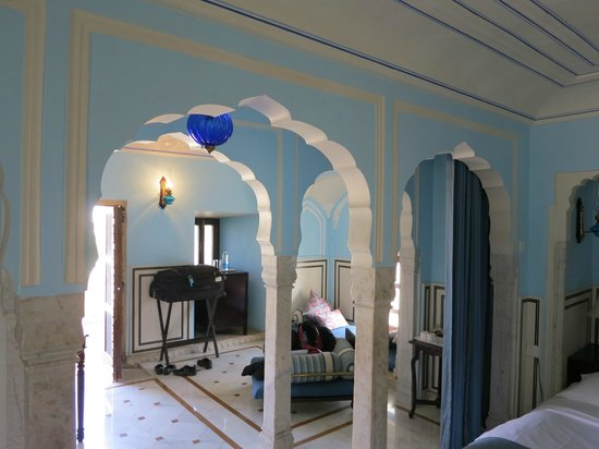 Royal Heritage Haveli:                   Blue room