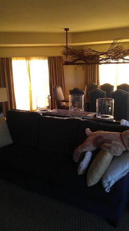 La Cantera Hill Country Resort:                   living and dining area