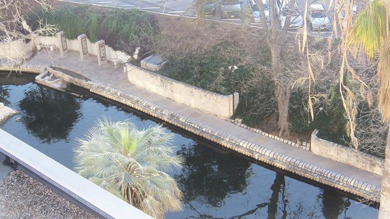 El Tropicano Riverwalk Hotel: Nice view of the Riverwalk from our balcany