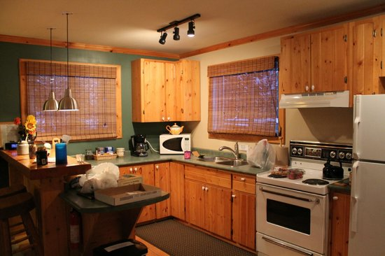Cedar House Restaurant & Chalets:                   Kitchen with EVERYTHING you could possibly need. - Cedar Chalet