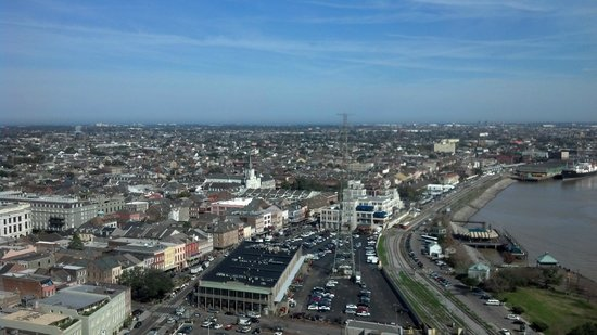 The Westin New Orleans Canal Place:                   View of New Orleans from my guestroom on Floor 26