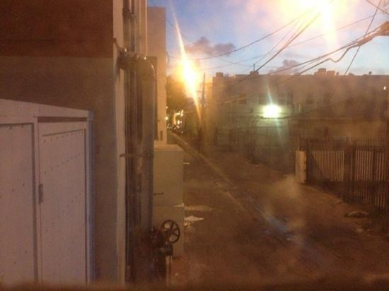 أيلاندز هاوس:                   this was the view from my window !! as I lay in bed at night I saw I was being