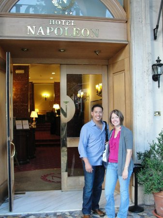 Hotel Napoleon: Only pic I have of the hotel - day we left