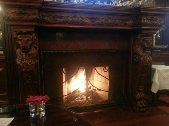 Prince of Wales:                   The Churchill Lounge fireplace
