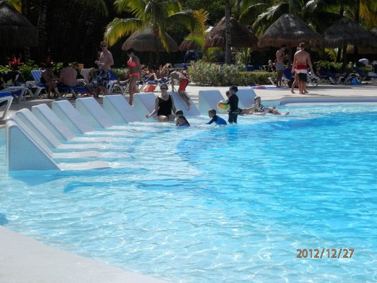 Grand Palladium Riviera Resort & Spa:                   Loved the underwater pool lounges!