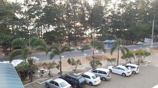 Nice Beach Hotel :                   From room across road to beach