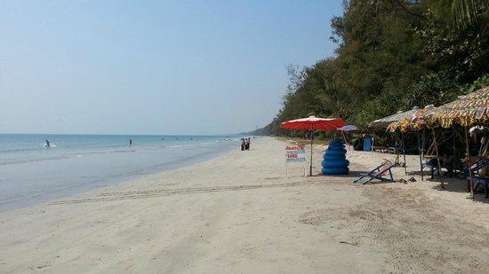 Nice Beach Hotel :                   Long bit of the beach
