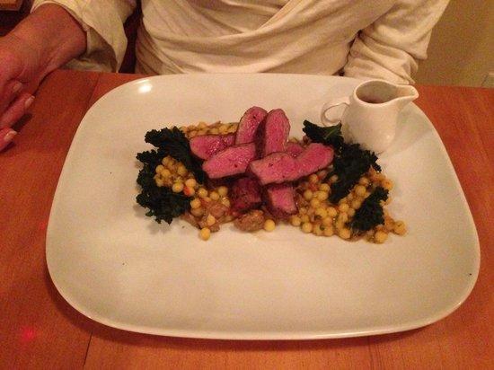 Hilltop Bistro:                   Lamb with Quinoa cous cous