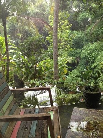 Villa Madu : view from the ground floor bedroom.