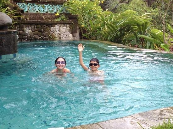 Villa Madu : kids having fun in the pool.