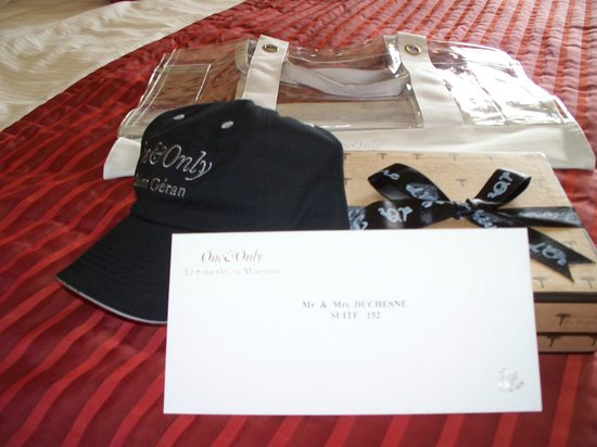 One&Only Le Saint Geran:                                     Welcome gifts