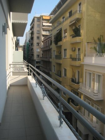 Athens Diamond Homtel:                   Balcony view - next door's balcony
