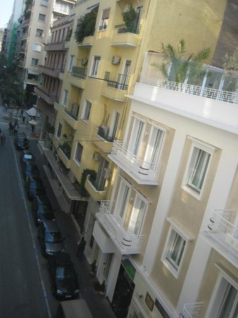 Athens Diamond Homtel:                   Balcony view