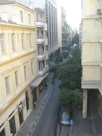 Athens Diamond Homtel:                   View from balcony along the other side