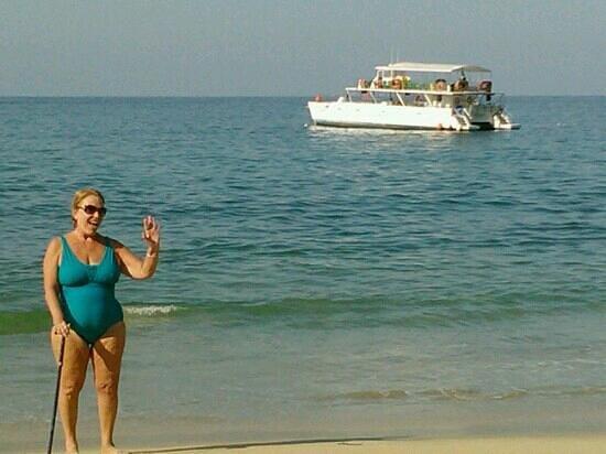 "Crucero Bahía Alegre:                                     Patricia, having a very time on Las Animas Bay. ""The swimmin"