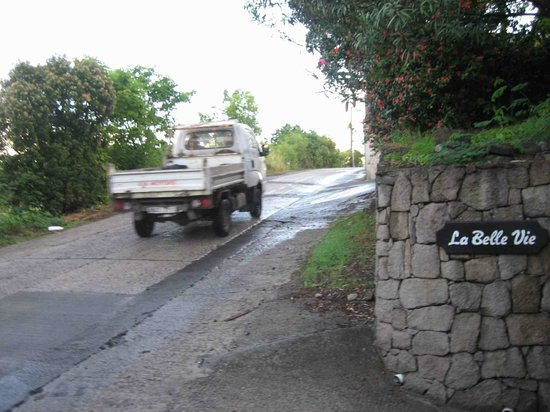 La Belle Vie Marigot St Barts, road