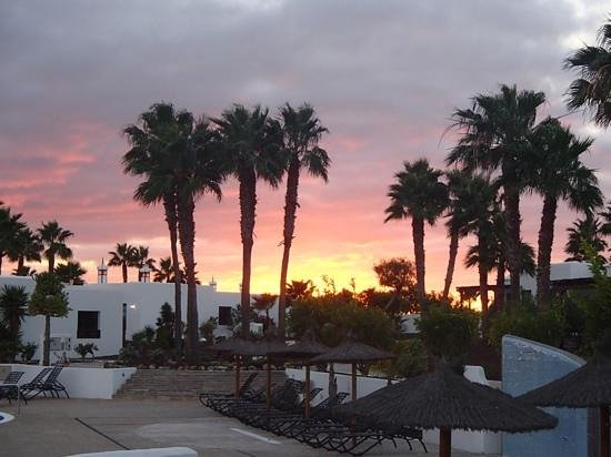 Jardines del Sol: Watching the sun go down from our patio
