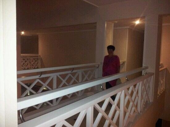 Hipotels La Geria: walk way over bridge to just 2 rooms very private