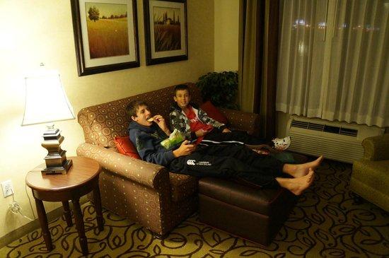 هوم وود سويتس باي هلتون لاس فيجاس إربورت: Great lounge area