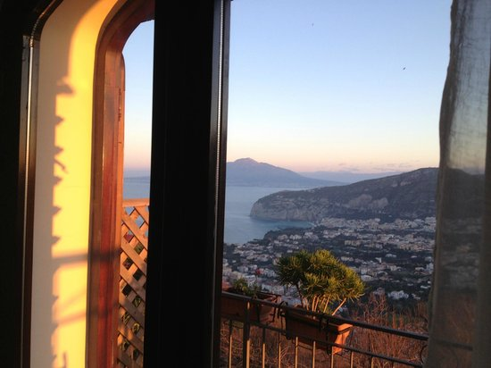 Villa Monica B&B:                   The view from our room in the morning - spectacular!