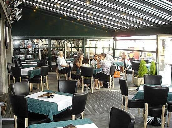 Cafe Leffe Oostende:                   Terras