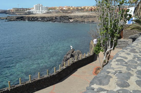 Vincci Tenerife Golf Hotel:                   Вид на отель из Los Abrigos(соседний городок)