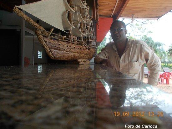 Hostel Paudimar Campestre:                   Balcão da Recepção
