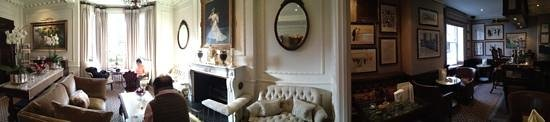 Egerton House Hotel: drawing room and bar