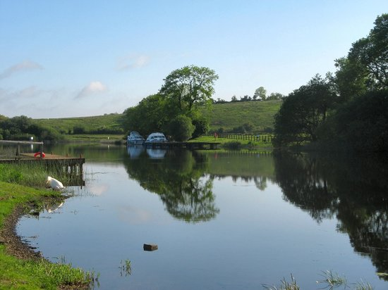 Corrigan's Shore House:                   Upstream view