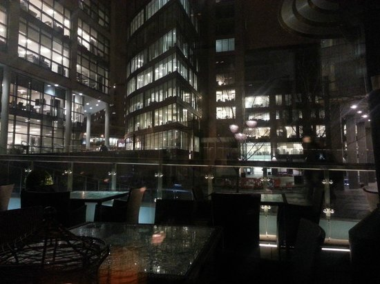 DoubleTree by Hilton Manchester Piccadilly: view from dining table