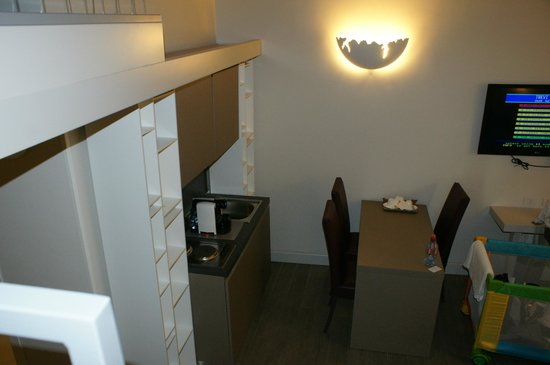 Trevi Palace Luxury Apartments: Dining area from top