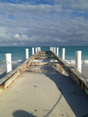Sands at Grace Bay:                                                       Old dock by the Seven Stars