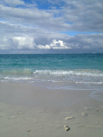 The Sands at Grace Bay:                                                       A few late afternoon clouds - beautiful.