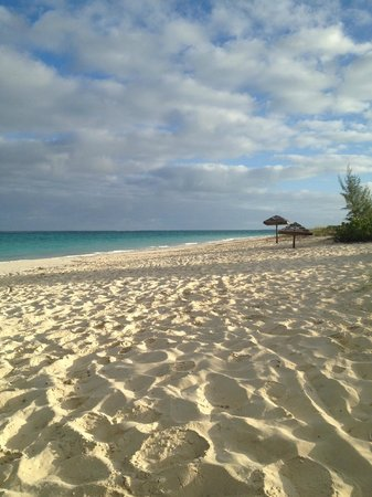 Sands at Grace Bay:                                                       Empty mornings - why don't people set up t