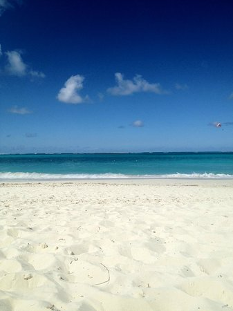 The Sands at Grace Bay:                                                       Lovely view - before the people come in