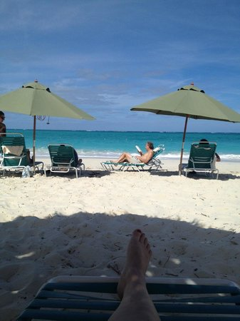 The Sands at Grace Bay:                                                       long empty stretches on either side - than