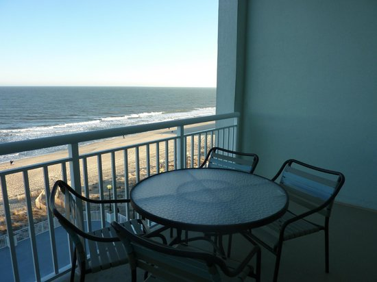 Hilton Suites Ocean City Oceanfront:                   Private balcony and view