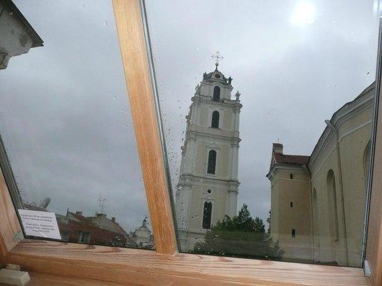 Narutis Hotel: ventana desde la cual se veia la torre de la Iglesia