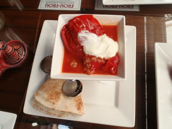 Cafe Fez:                   Beef stuffed peppers