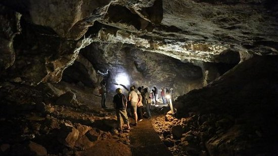 Greater Johannesburg, Sudafrica:                   in the caves at sterkfontein