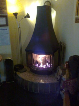 The Kings Arms:                                     roaring log fire!