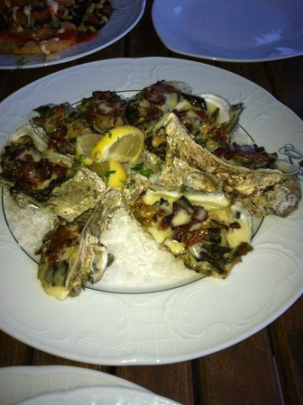 The Rooftop at Ocean Lodge :                   Large Oysters on the Orders