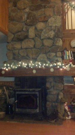 South Meadow Farm Lodge:                   Common area fireplace
